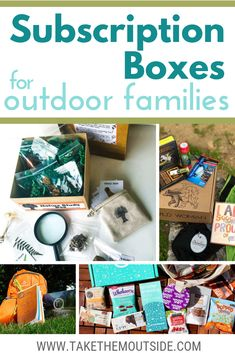 Looking for an easy gift giving solution or a fun way to stock up on camping, hiking, and adventure supplies? Have you considered subscription boxes? Here's a list of the top outdoor subscription boxes for nature loving and adventurous families. #giftsforkids #getoutside
