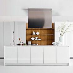 Moderne Küche / aus Edelstahl / Laminat / Holz SLIM  ELMAR cucine