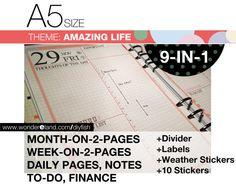 A5 inserts Amazing Life Theme Refills FULL set von DIYfish