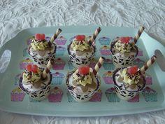 Sundae Cupcakes Sundae Cupcakes, Ice Cream Cupcakes, Eat Cake, Delicious Desserts, Cupcake Cakes, Goodies, Birthdays, Fairy, Pudding