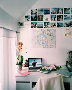 Decorating ideas white college dorm room ideas with picture photos and lights comfy corner cozy shelves teenage room decor ideas diy bedroom wall decor Room Decor For Teen Girls, Teenage Girl Bedrooms, Girls Bedroom, Bedroom Decor, Bedroom Ideas, Decor Room, Trendy Bedroom, Bedroom Designs, Bedroom Wall