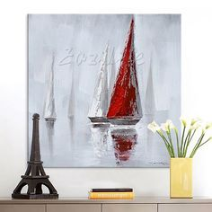 Cheap picture for living room, Buy Quality wall pictures directly from China hand painted Suppliers: Hand painted Canvas Oil painting Wall Pictures for Living room wall decor art canvas painting palette knife boat 26 Hand Painted Canvas, Canvas Frame, Canvas Art, Living Room Pictures, Wall Pictures, Cheap Paintings, Room Wall Decor, Art Drawings Sketches, Aliexpress