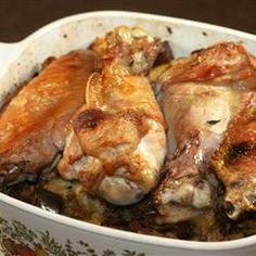 Easy Baked Turkey Wings Allrecipes.com - SO easy and really good!