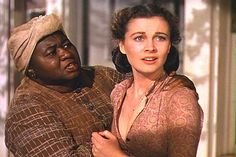 "Hattie McDaniel and Vivien Leigh in ""Gone With The Wind"" Go To Movies, Old Movies, Great Movies, Rhett Butler, Scarlett O'hara, I Movie, Movie Stars, Ana Karenina, Hattie Mcdaniel"