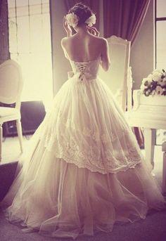 A whimsical fairytale wedding dress truly made for a princess...