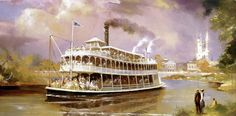 Liberty Belle, Magic Kingdom, Walt Disney World - Herb Ryman