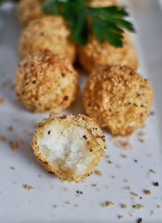 Crispy Parmesan Potato Puffs. Say hello to your new favorite appetizer!