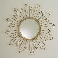Radiance Gold Mirror Global Views Round Mirrors Home Decor  42 Inches Wide