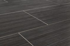 "Porcelain Tile - Raw Silk Series - Black/12""x24"""