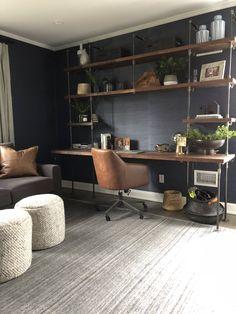 Butcher Block Office Desk Built-In | Etsy