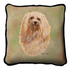Havanese Dog Portrait Pillow