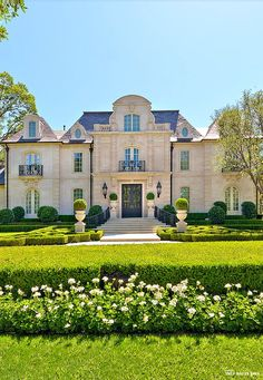French Chateau Style Residential Estate and Formal Garden  ~ Great pin! For Oahu architectural design visit http://ownerbuiltdesign.com
