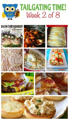 Time for the second week of football food recommendations from nine great bloggers! Tailgate Appetizers, Tailgating Recipes, Tailgate Food, Best Appetizers, Appetizer Recipes, Football Recipes, Easter Recipes, Great Recipes, Favorite Recipes