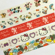 Washi Tape - Cartoon, Anime, Kitty, Mouse, Baby - For Planners, Scrapbooks, Crafts