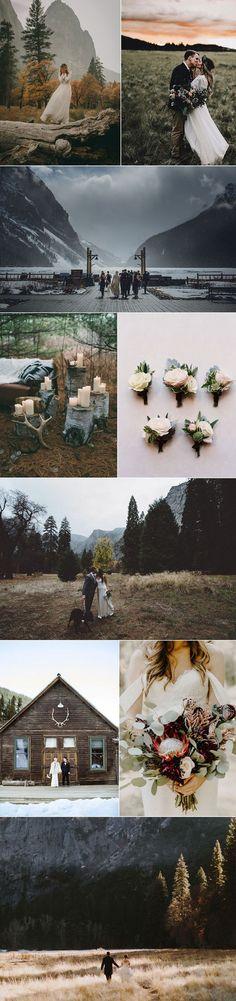 rustic mountain side wedding ideas