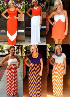 We've got spirit, yes we do!  Orange, white, & purple!  Go Tennessee Vols!  Go Clemson Tigers!!  Available at 105 West Boutique in Abbeville, SC.  (864) 366-WEST.