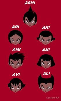 The Daughters of Aku-Names Revealed. by VectorMagnus2011 Even if these names aren't right I'd like to think they are