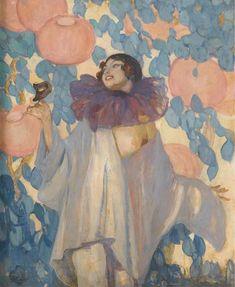 Pierrette au Masque, 1928 by Jean-Gabriel Domergue (1889-1962)