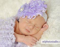 Diadema bebé blanco Infantil poco venda de por AdornedCreations
