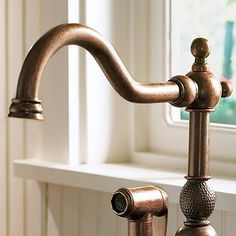 absolutely love this still and in copper for the kitchen in the Carlsbad house. Photo: Courtesy of Danze | thisoldhouse.com | from All About Kitchen Faucets