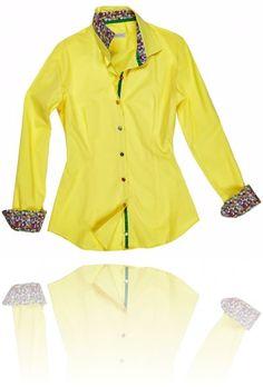 Camicia basic gialla con dettagli floreali. Seguici su #RedisRappresentanze www.redisrappresentanze.it