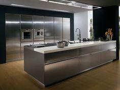 Cozinha com maçanetas ELEKTRA | Cozinha em aço - ERNESTOMEDA