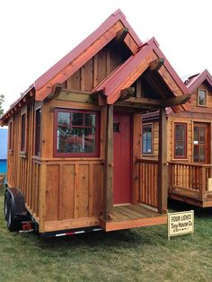Four Lights Tiny House Company by Jay Shafer Small Tiny House, Tiny House Cabin, Tiny Houses For Sale, Tiny House Living, Tiny House Plans, Tiny House Design, Tiny House On Wheels, Little Houses, Small Houses