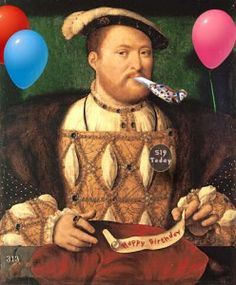 """Happy Birthday King Henry VIII! On this day in history, 28 June 1491, King Henry VIII was born at Greenwich Palace.  He was Henry VII & Elizabeth of York's second son, the """"spare"""" they needed in case anything happened to his older brother, Prince Arthur. And he was needed! On the 2nd April, Prince Arthur the Prince of Wales died at the age of 15, just months after his marriage to Catherine of Aragon. Not only did Henry inherit Arthur's position, Prince of Wales, he also inherited his wife."""