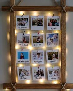 Işıklı mandallı çoklu çerçeve Anneler günü hediyesi fikri | Kadınca Fikir - Kadınca Fikir