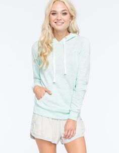 Bright and sporty ----- FULL TILT Essential Marled Womens Pullover Hoodie 263139322 | Girl In Motion