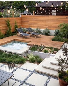 30 Beautiful Backyard Landscaping Design Ideas Small Backyard Design Ideas Pictures Backyard Patio Design Images Small Backyard Pool Design Ideas - All About Small Backyard Landscaping, Backyard Garden Design, Landscaping Design, Backyard Designs, Cozy Backyard, Backyard Playground, Backyard Pavers, Landscaping Software, Garden Tub