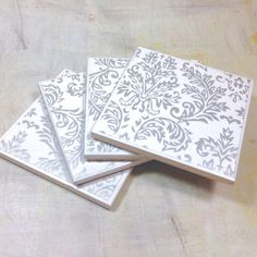 coasters { white wedding }