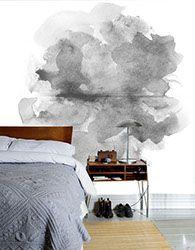 Grey water colour mural from Scandinavian Wallpaper & Décor I www.wallpaperdecor.com.au
