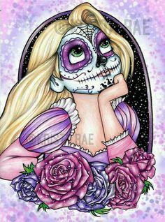 Rapunzel skull