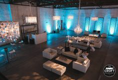 At The Croft Downtown we have a broad selection of decor for your wedding ceremony or dinner reception. Host your special event in the ever to stylish Downtown Phoenix Warehouse District and give your guests something to talk about. Photography by Kym Ventola #thecroftdowntown #phoenixweddingvenue