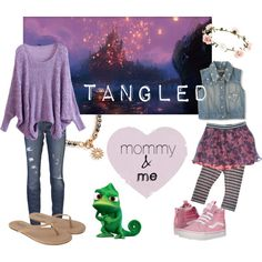 Disney Mommy & Me-Tangled by disneymommyandme on Polyvore   Disney outfit