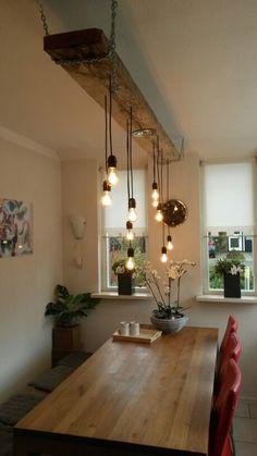 Industriële lamp Ingrid Frank Industriële lamp Ingrid Frank - MY World Rustic Lighting, Home Lighting, Lighting Ideas, Outdoor Lighting, Driftwood Chandelier, Diner Decor, Diy Home Decor, Room Decor, Diy Casa