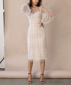 Mesh Dress, Lace Dress, Midi Dress With Sleeves, Dress Long, Chiffon Dress, Cheap Dresses, Casual Dresses, Women's Knee Length Dresses, Classy Dress