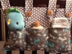 Three pocket Crib-side Organizer by NurseryThymesQuilts on Etsy