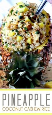 The Homestead Survival | Pineapple Coconut Cashew Rice | Recipe -   Clean Eating -  http://thehomesteadsurvival.com