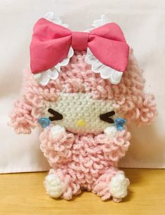 Pink Sheep, Cute Anime Profile Pictures, Pretty Dolls, Sanrio, Plushies, Cute Drawings, Piano, Hello Kitty, Crochet Necklace