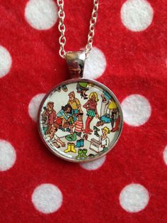 Upcycled Where's Wally Silver Plated Necklace  by robbiesgirlshop, $9.00 Wheres Wally, Fashion Handbags, Silver Plate, Upcycle, Give It To Me, Pendant Necklace, Unique Jewelry, Handmade Gifts, Accessories