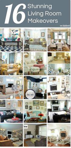 16 Stunning Living Room Makeovers