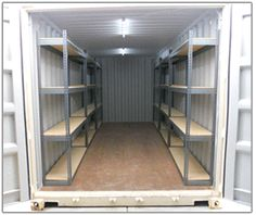 Customize Your Portable Storage Container with Accessories Shipping Container Rental, Shipping Container Workshop, Shipping Container Conversions, Shipping Containers, Container Shop, Cargo Container, Container House Design, Container Houses, Metal Storage Containers