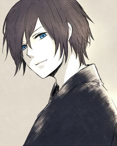 anime boy with brown hair and blue eyes - Google Search