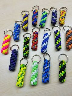 Great Deal set of 4 handmade keychains! Durable 550 nylon Paracord keychains multiple colors. Each keychain is approximately 1 3/4-2 inches long and with key ri