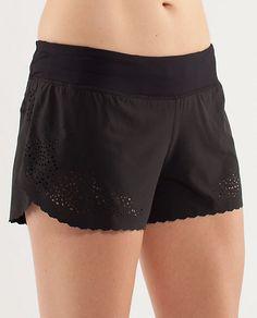 LuLu Lemon marathon shorts! Chafe-resistant, laser cut, reflective gear!