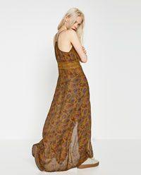 ZARA的图片 6 名称拼接长袍式连衣裙