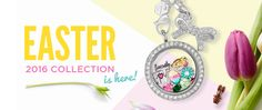 Origami Owl, Easter 2016 collection. www.CharmingLocketsByAline.OrigamiOwl.com