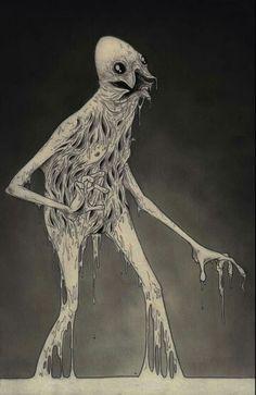 dripping monster - art by John Kenn Mortensen Arte Horror, Horror Art, Dark Fantasy, Fantasy Art, Arte Obscura, Scary Monsters, Creepy Art, Steampunk, Monster Art